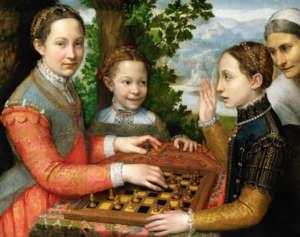 Partida de ajedrez es un óleo de Sofonisba Anguissola realizado en 1555.